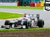 Kamui Kobayashi, Sauber, takes a spin at Luffield
