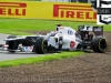 Kamui Kobayashi, Sauber, takes a spin at Luffield during 2nd Practice