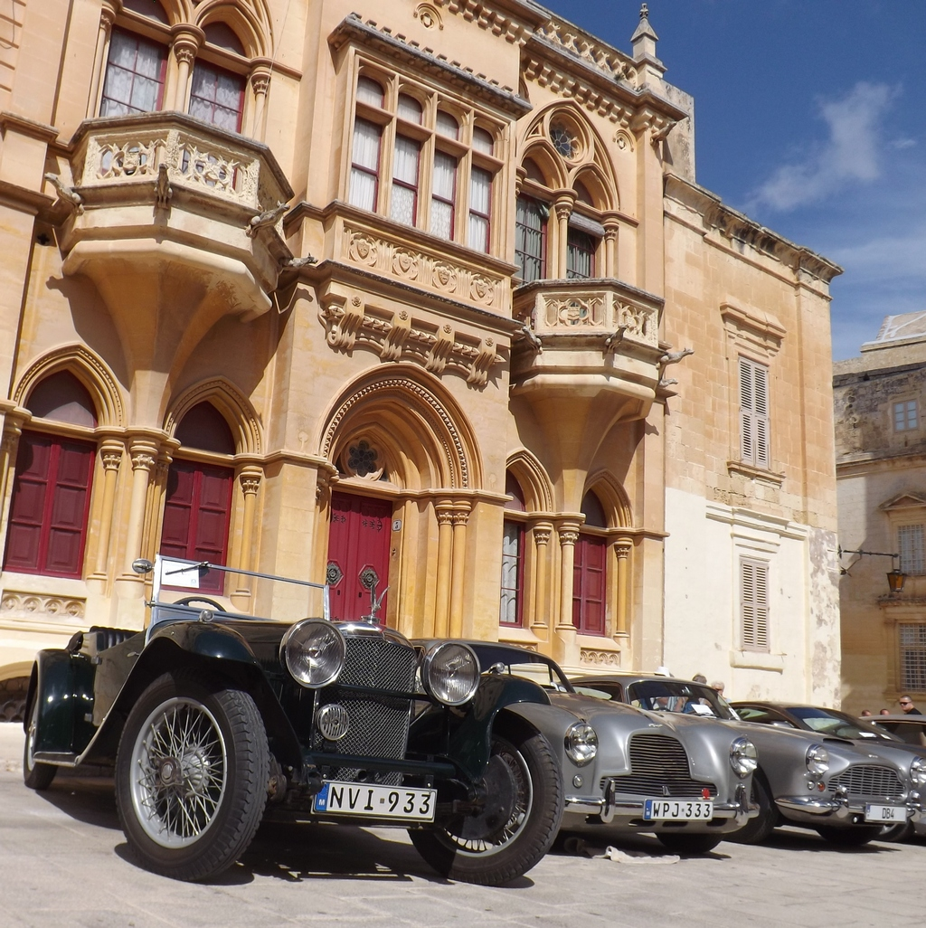 An Alvis Speed 20 with a pair of Aston Martins, UK built cars out numbered all of the overseas brands put together