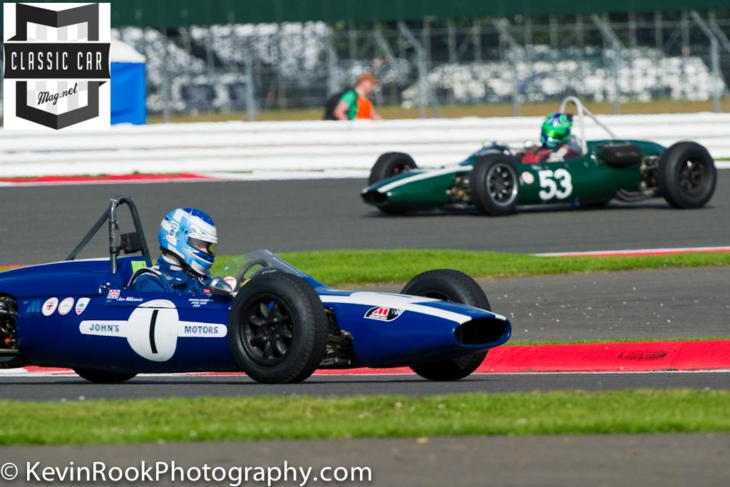 2012 Silverstone Classic, Jon Melicevic (Cooper T59), Sam Willson.