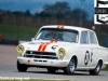 The 1964 16cc Ford Cortina of Shaun Lynn and Andrew Hadden in qualifying for the pre 66, under 2 Litre Touring Cars.