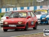 #44 A.Fellows - Ford Fiesta XR2, leads a group into Redgate