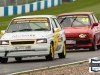 #5 E.Cooper - Vauxhall Nove GSi leads #44 A.Fellows - Ford Fiesta XR2