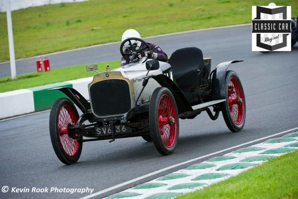 Gillian Carr in the 1914/18 Vauxhall A/D Type car