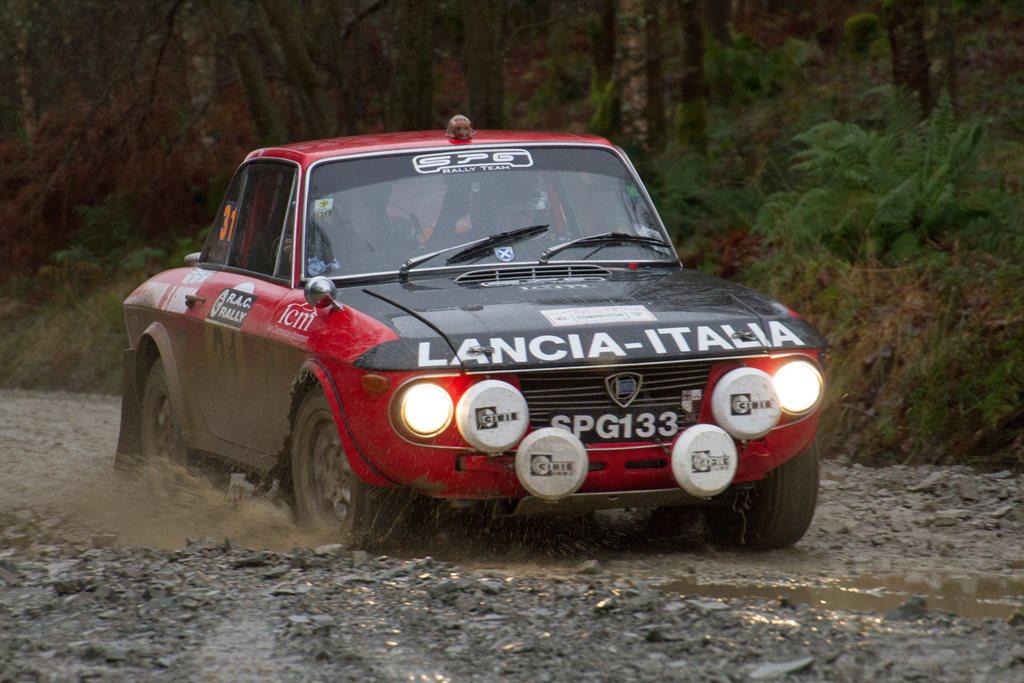 Lancia Fulvia 1-3S at the RAC Rally