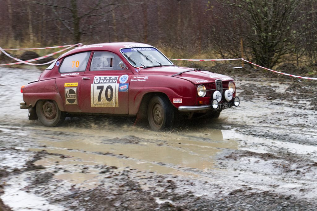 SAAB 96 Sport at the Roger Albert Clark Rally 2012 - Stage 19