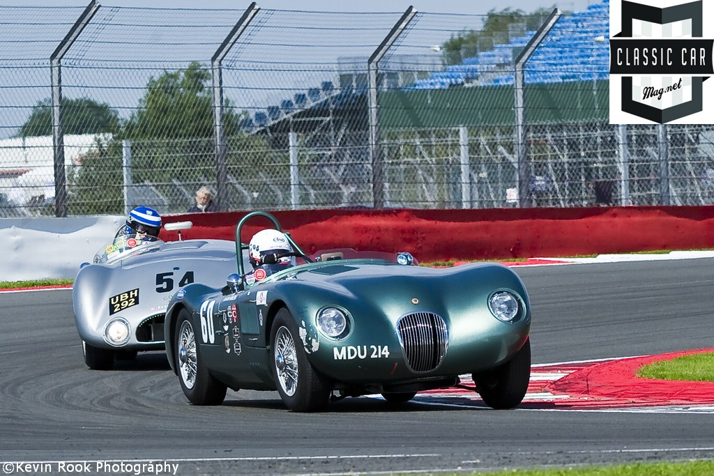 2012 Silverstone Classic, The Jaguar C type of Nigel WEBB and Anthony REID
