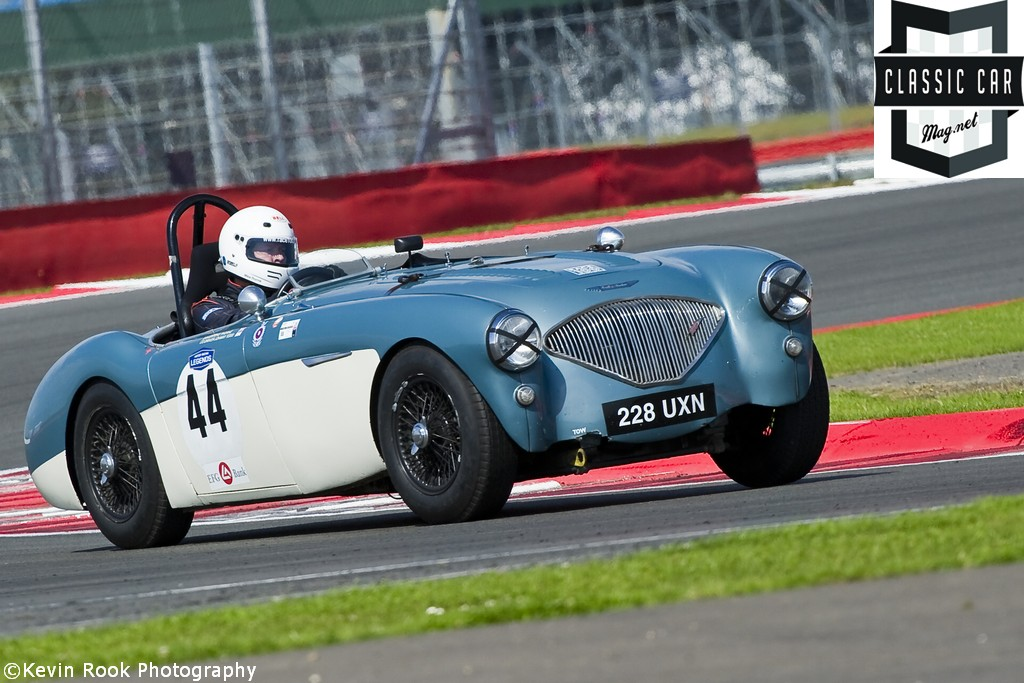2012 Silverstone Classic, The Austin Healey 110M of Mike THORNE and Johnny TODD