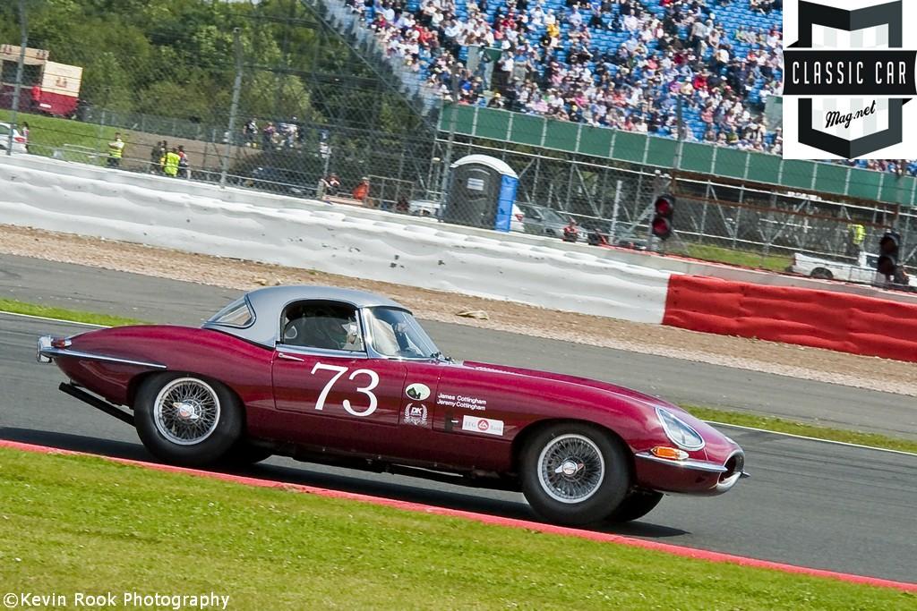 2012 Silverstone Classic, James and David COTTINGHAM, Jaguar E Type
