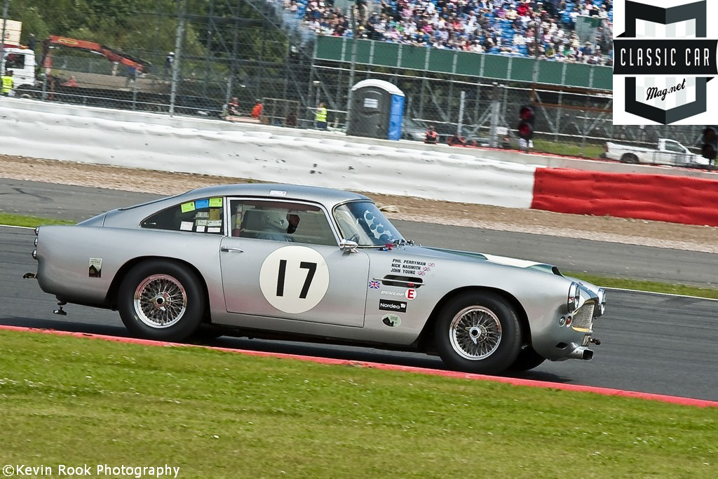 2012 Silverstone Classic, Nick NAISMITH in the Aston Martin DB4