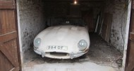 Early Jaguar E-Type That Lay Hidden In A Garage For More Than 30 Years Sold For £110,000 At Bonhams Classic Car Auction