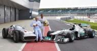 Stirling Moss & Lewis Hamilton Compare Fangio's Formula 1 Grand Prix Car