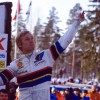 Ari Vatanen and Markku Alén drive on the Live Rally Stage at Race Retro