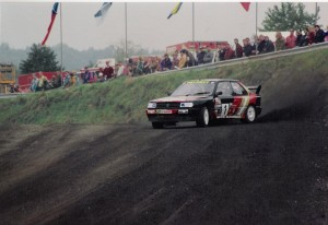 Will Gollop in his Peugeot 309 T16