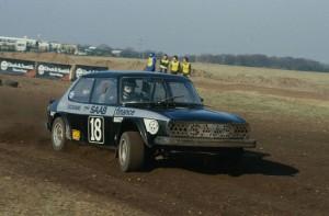 Will Gollop's SAAB at Snetterton Rallycross