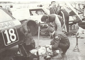 Will Gollop's SAAB in the pits