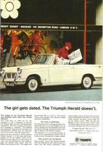 Triumph Herald Advert