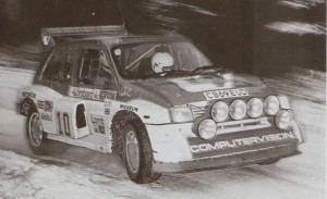 1985 RAC Rally Tony Pond and Rob Arthur - 3rd