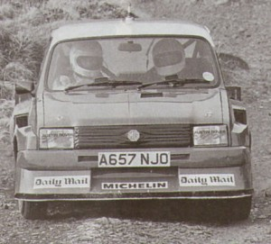 An early development MG Metro 6R4 unveiled to the press in Spring 1984