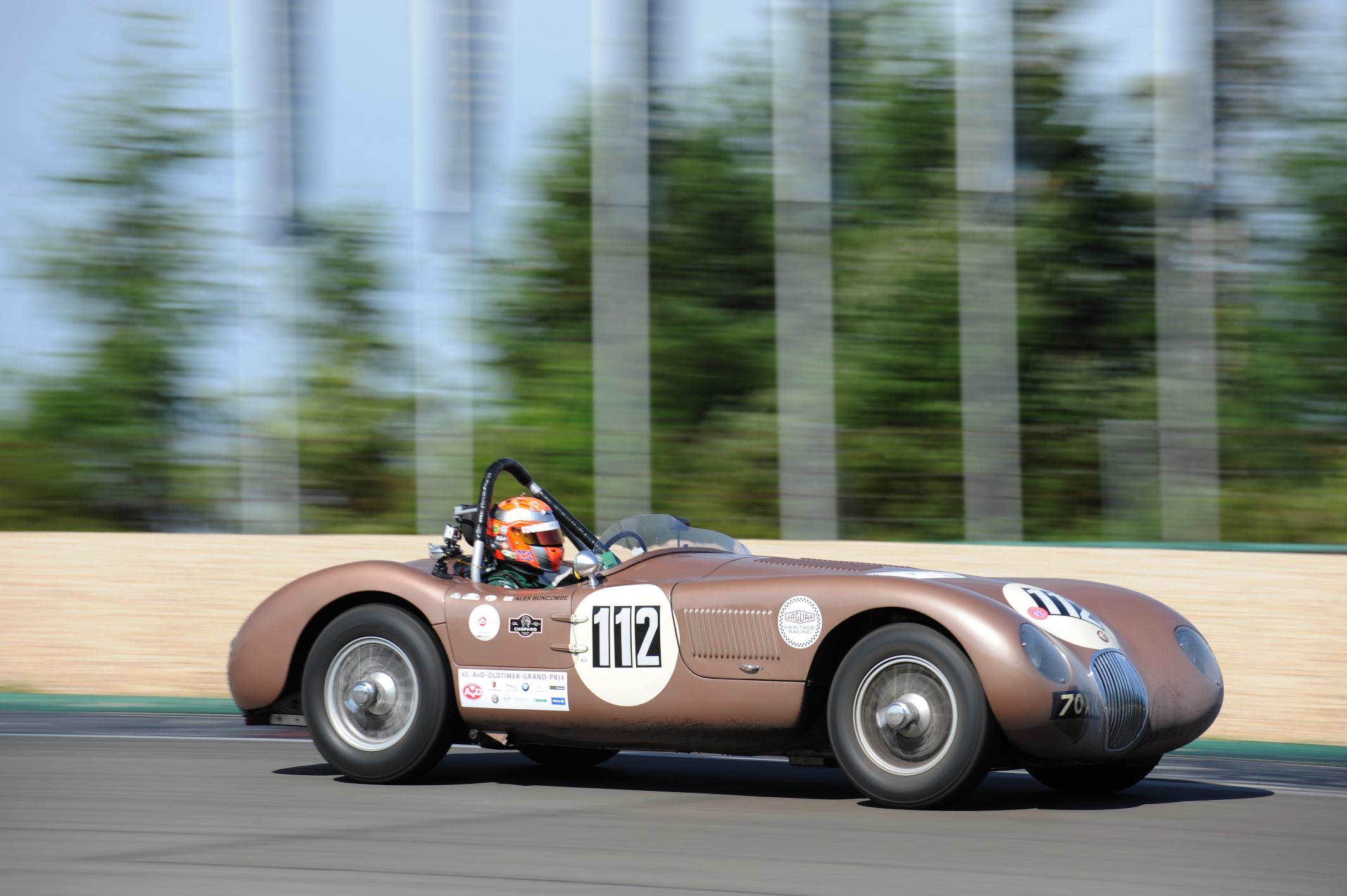 Jaguar C Type At The Oldtimer Grand Prix