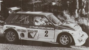 Malcolm Wilson and the late Nigel Harris in the Group B 6R4