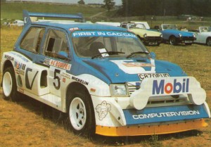 ex-Tony Pond Metro 6R4 competed in the 1986 Monte Carlo Rally