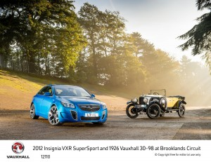 2012 Insignia VXR SuperSport and 1926 Vauxhall 30-98
