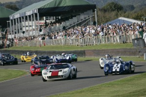 Ford GT40 race at Goodwood Revival