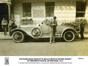 100 years ago - Radley's Rolls-Royce Silver Ghost at Brown's Hotel