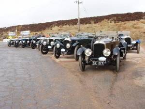 1920 E-type (foreground) joins other 30-98s at the top