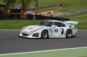 70s celebration - Di Montelera in a Porsche 935 pole setter top of paddock