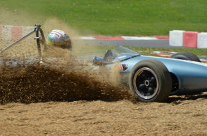Larani Trophy - Jonathan Hughes in a Brabham BT6 Gravel trap, went on to finish 2nd
