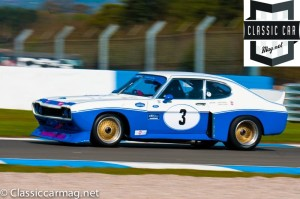 The 1975 Capri of Chris Ward and John Young in qualifying, at the Donington Historic Festival