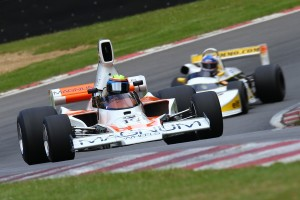 The Brands Hatch Historic Superprix features a packed bill, including the Derek Bell Trophy for powerful single seaters. (Photo courtesy of Az Edwards)