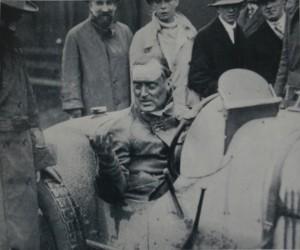 Malcolm Campbell in his Bugatti-Boulogne GP 1928