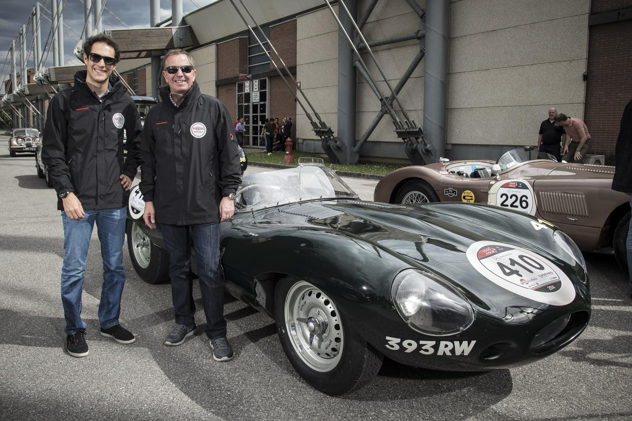Senna And Brundle Lead Jaguar Charge As The 2014 Mille Miglia Begins 1950s Cars Drivers Martin Bruno At