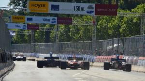 Chevron B24 v Arrows FA13 v Tyrrell 006 chasing BAR Honda