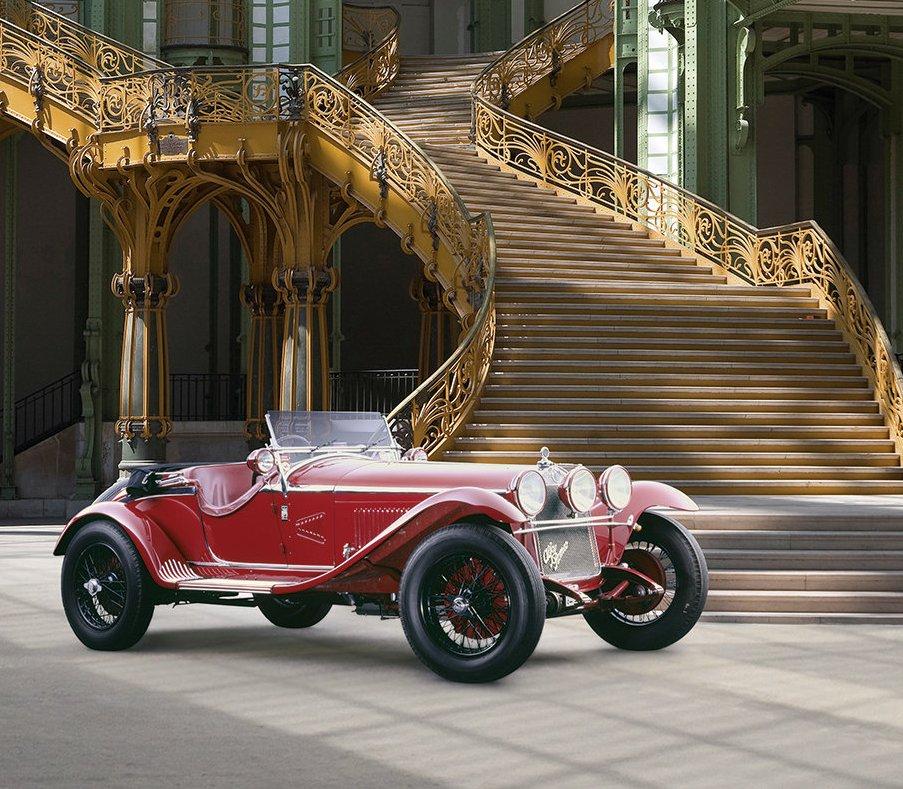 Exiled Russian Imperial Guardsman's Racing Alfa Romeo
