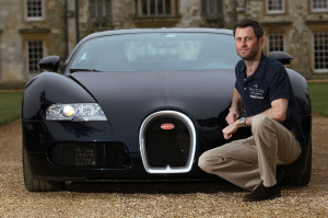 Lord Pembroke with the Bugatti Veyron