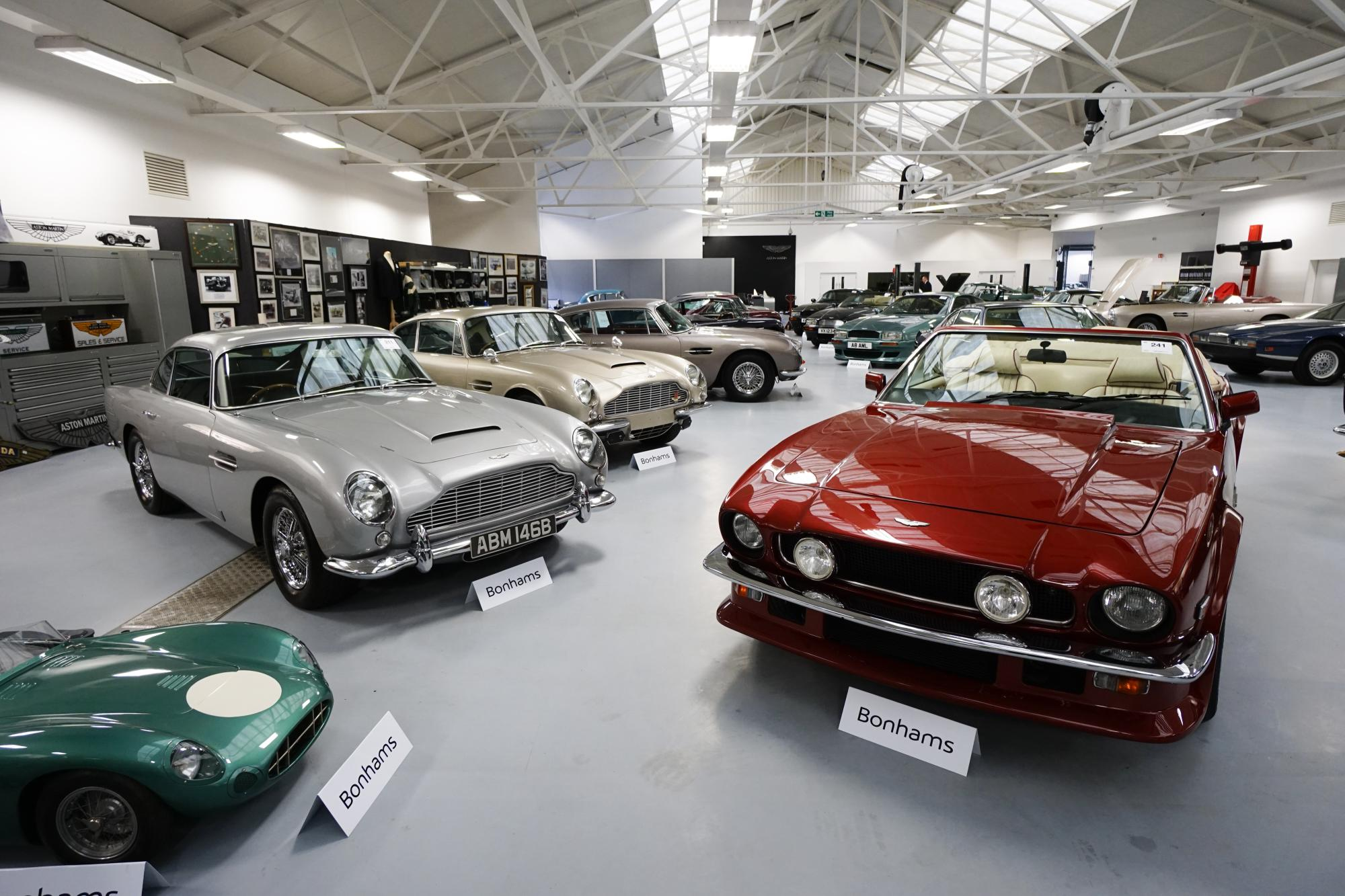 biggest bonhams sale to date at aston martin works | classic car