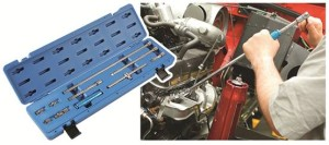 Comprehensive set of extension bars & accessories