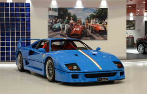 This patriotically painted F40 will be among a number of wonderful Ferraris in the Italian corner.