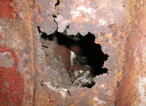 A rats nest in the bulkhead could have spelt disaster but for the talents of Glen Bunting's welder