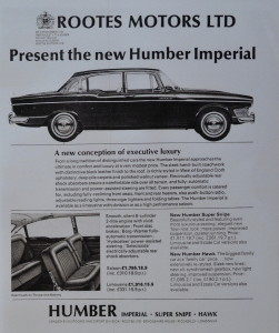 Rootes marketed the Imperial towards high end executives who drove as well as being chauffeured