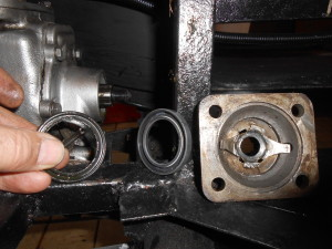 Most worrying but Alan's super airgun meant we could remove the leaking rear gearbox seal