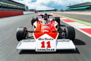 Freddie Hunt driving his father's title winning McLaren M23 (Photo:  Jayson Fong)