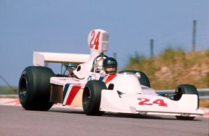 James Hunt winning his first GP with Hesketh in 1975 and the British GP with McLaren in 1977. Both cars will be at this month's Silverstone Classic (photo: LAT Photographic)