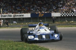 Ronnie Peterson driving the P34 at Monza in 1977