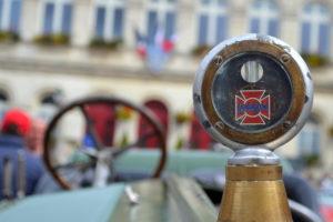 1918 La France Hood ornament, radiator cap and temperature gauge