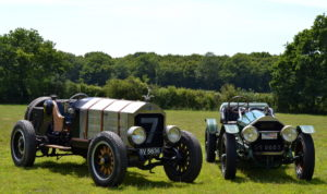 Together the size difference is obvious mostly due to the larger rims on the 1918 machine